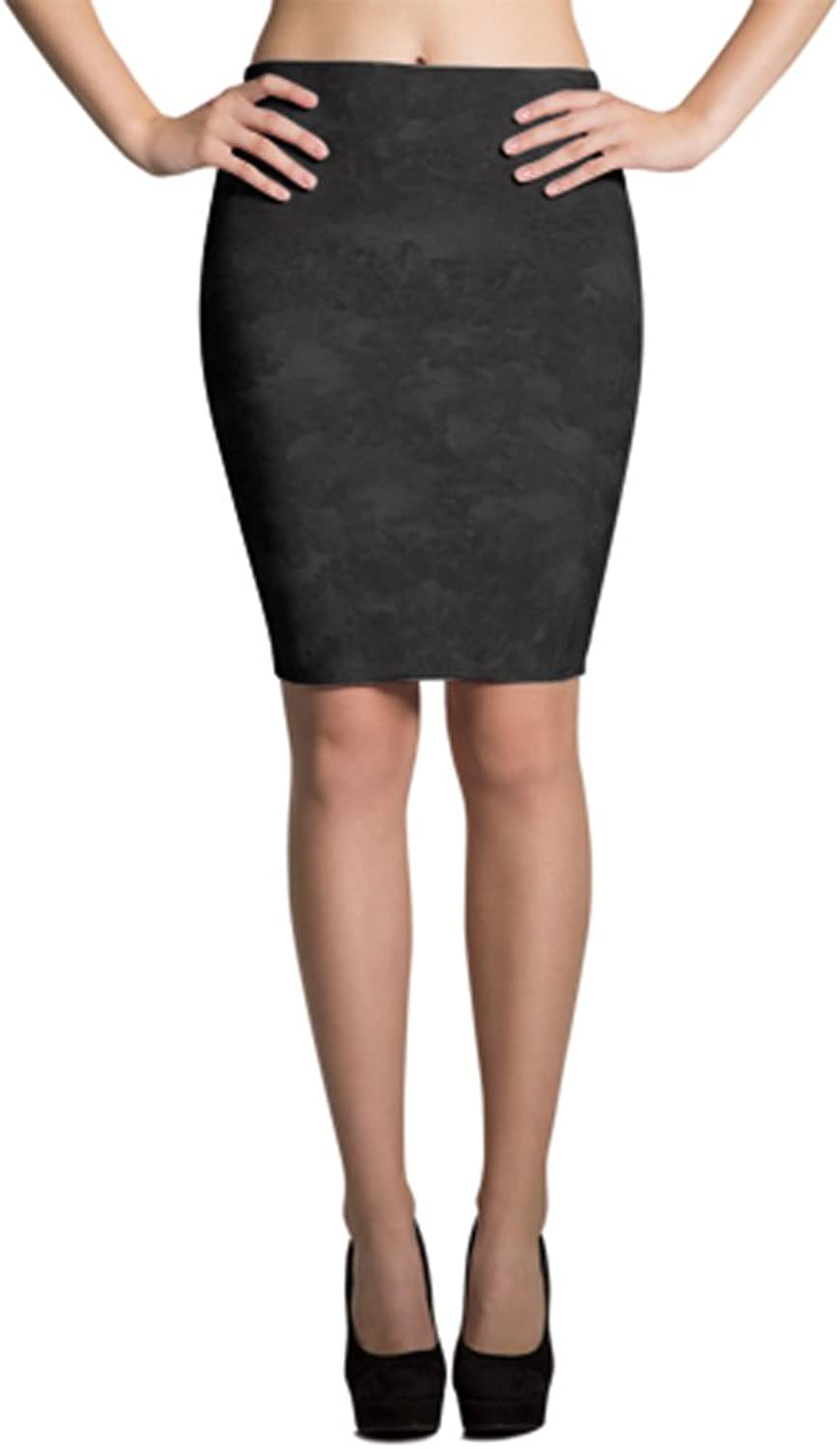 Fractaware Abstract Design Printed Pencil Skirt Premium Quality