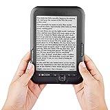 E-book Reader, Reader Paperwhite E-reader Lector electrónico de 6 pulgadas para auriculares de 3,5 mm(grey, 8G, black)