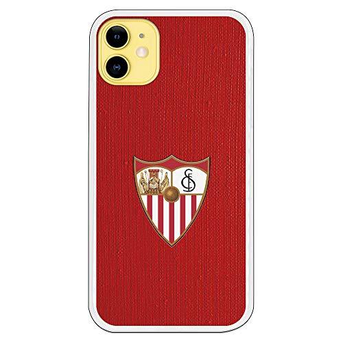 Funda para iPhone 11 del Sevilla para Proteger tu móvil. Carcasa para Apple de Silicona Flexible con Licencia Oficial de Sevilla FC.