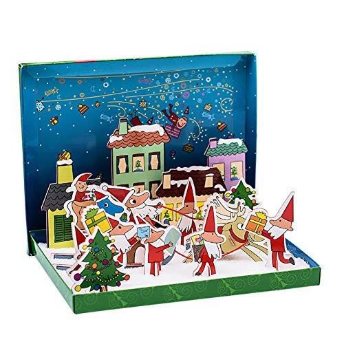 3D Christmas Jigsaw Puzzle for Kids Snow Cottage Model Kits Christmas Jigsaw Puzzles Family Toys for Boys and Girls,Desk Christmas Decor
