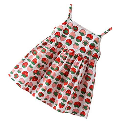 VALICLUD 1Pc Meninas Vestido Casual One Piece-Vestido Doce Funda Vestido de Crianças Vestido de Verão 100 Centímetros