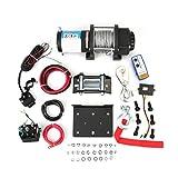 Verricello Elettrico, Paranco elettrico 12V 4000lbs(1814KG), Verricello con sollevamento automatico con telecomando del sistema di controllo, accessori per auto
