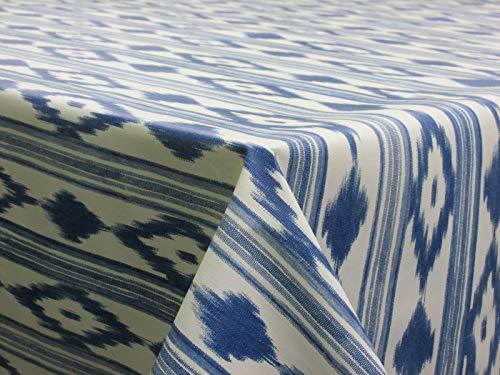 Confección Saymi Mantel de Hule PVC Estampado Ref. Mallorquín Azul, Medida 140x100