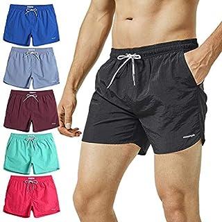 MaaMgic Mens Short Swim Trunks with Mesh Lining Quick Dry Boy Mens Board Shorts Swim Suit