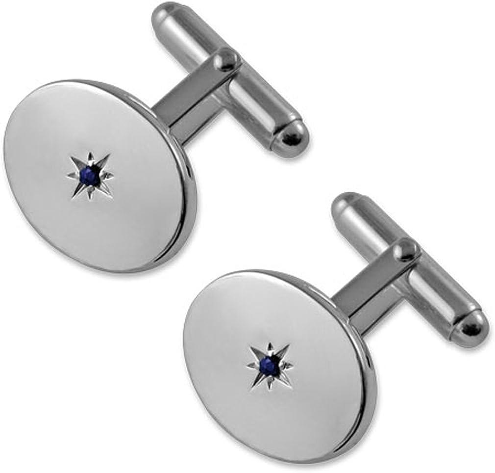 Select Super-cheap Gifts Sterling Cufflinks 5 ☆ popular Sapphire Silver