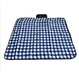 MISLD Picnic Blanket Oxford Textile Picnic Blanket Waterproof Moisture Proof Outdoor Lawn Mat Foldable Portable Picnic Pad Suitable for Beaches Family Gather Meal Camping