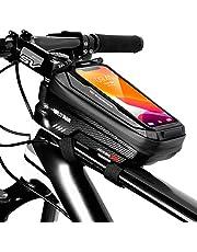 """TEUEN Bolsa Bicicleta Impermeable Bolsa Movil Bici con Ventana para Pantalla Táctil, Bolsa para Cuadro Bicicleta Montaña para Smartphones de hasta 6,5"""""""