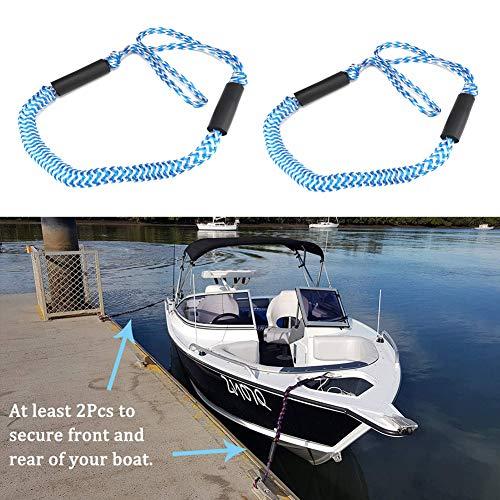 Elegante juego de 2 piezas de cuerda elástica para barco motor, barco, kayak, jet hidroavión