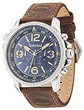 Timberland Campton orologio al quarzo con display analogico e cinturino in pelle marrone scuro 13910JS/03