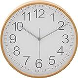 不二貿易プライウッド掛時計 Φ28cm WH ホワイト 85368 1個 不二貿易