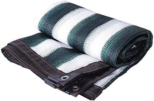 MWXFYWW Cubierta de sombreado de Verano Cifrado de Red de protección Solar Verde Oscuro/Blanco 85% Tasa de sombreado Utilizada para Plantas Verdes de jardinería en el Techo del Patio