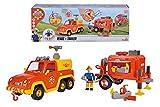 Simba- Feuerwehrmann Sam Venus mit Anhänger und Figur Bombero Colgante, Color 1. (109251086)