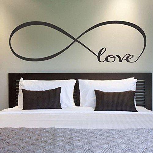 GenialES 58 * 150cm Símbolo Infinito Palabra Love Pegatina de Pared DIY Vinilo Decorativo Adhesivo PVC para Dormitorio