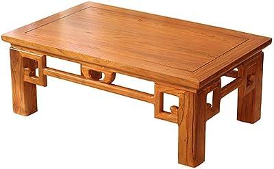 Tea Table Bay Window Small Coffee Table Tatami Small Table Japanese Tatami Low Table Bay Window Table Chinese Table Tables (Color : Brown, Size : 80 * 50 * 30cm)