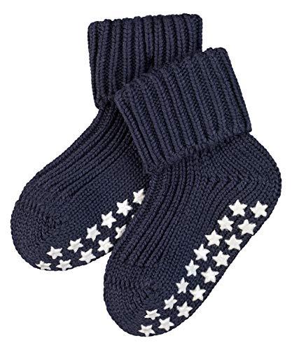 FALKE Unisex Baby Hausschuh-Socken Catspads Cotton, Baumwolle, 1 Paar, Blau (Dark Marine 6170), 1-6 Monate (62-68cm)