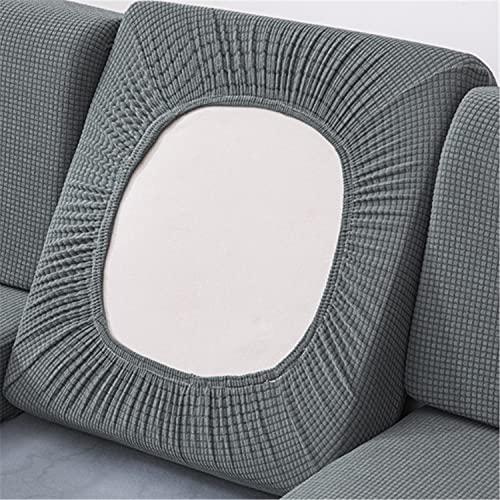 NLCYYQ Sofakissenbezüge, wasserdicht, Stretch-Couch-Kissenbezüge, einzelne Rückenlehnenkissen (grau, 2-Sitzer)
