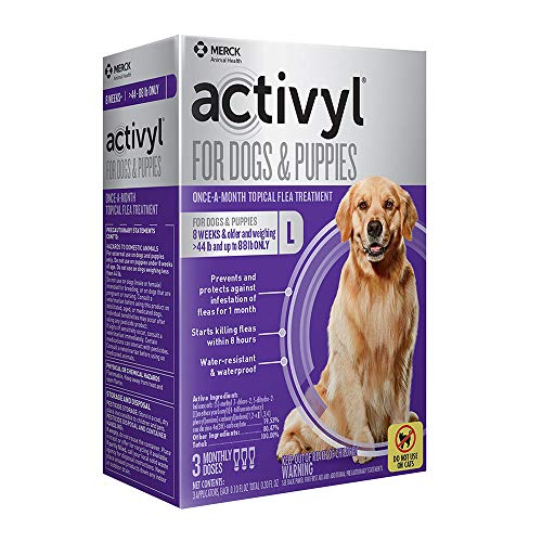 Activyl Large Dogs & Puppies 45-88lbs, 3-pack