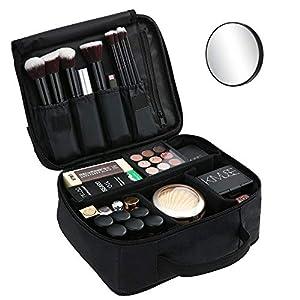 Bolsa de Maquillaje Ligera PortátilBolsa de Almacenamiento de Maquillaje con Asa Acolchada Bolsa de Viaje Maquillaje Cosmético Bolsa Multifuncional para Viajes y Viajes de Negocios