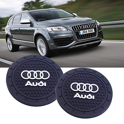 SHENGYAWAUTO Car Interior Accessories Cup Holder,Anti Slip Cup Mat Insert for Audi All Models 2 Packs,2.75 inch