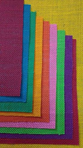MAHVIR ENTERPRISES Jute Sheets/Burlap Sheets A4 Size 10 Colors Assorted