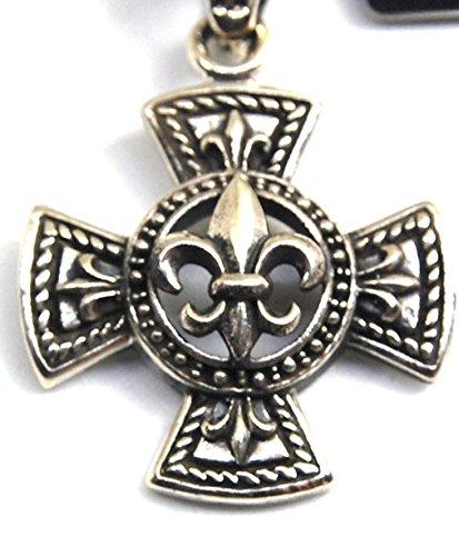 Medioevo gioielli ciondolo a forma di croce con Fleur de Lys