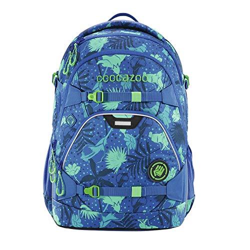 coocazoo Schulrucksack ScaleRale Tropical Blue blau-türkis, ergonomischer Tornister, höhenverstellbar mit Brustgurt und Hüftgurt für Jungen ab der 5. Klasse, 30 Liter
