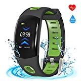 armo Fitness Tracker,Armor Activity Tracker Watch Smart Bracelet Band with 3D Dynamic UI Pedometer Auto Sleep Tracker Sedentary Alert Heart Rate Monitor Calls SMS Reminder (Green)