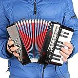 Asdomo Enfants Enfants 17 Touches 8 Basse Mini Accordéon Éducatif Instrument de Musique Instrument de Rythme Bande Jouet