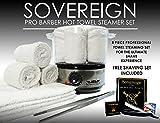 Vaporizador de toallas Sovereign. Ideal para barbeado en barbería