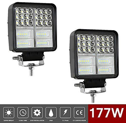 "4"" 177W LED Light Bar LED Driving Work Light Lamp Flood Spot Combo Off road Lighting for 4x4 Off Road Fog Lights Led Projector Truck"