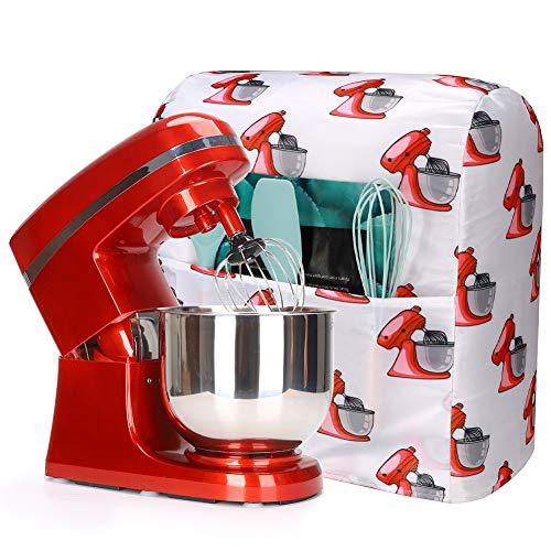 Kitchenaid Mixer-Abdeckung mit Tasche, kompatibel mit 5–8 Quart Küchenhelfer-Schutz für Kitchenaid Mixer, Mischer-Abdeckungen passend für alle Kippkopf- und Schalen-Hebemodelle (rot)