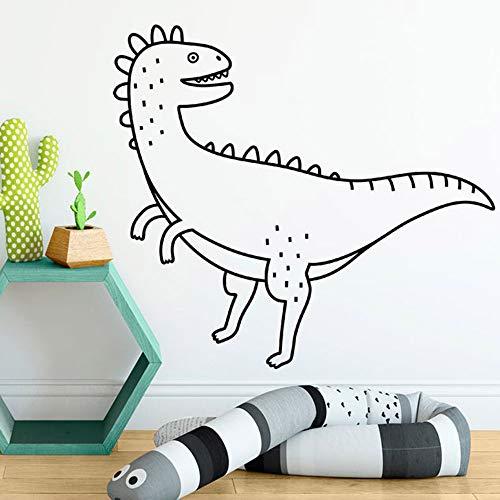 Schattige dinosaurus muursticker scoort grappige dierendecoratieve kunst van de kamer