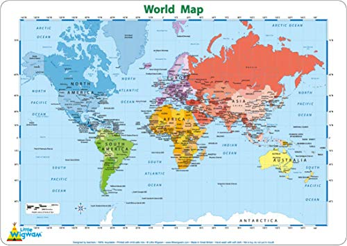 Little Wigwam - Mantel del mapa del mundo (en inglés)