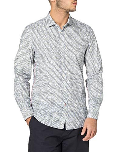 United Colors of Benetton Camicia 5LNK5QLO8 Camisa, Allover A Fiori 27 L, M para Hombre