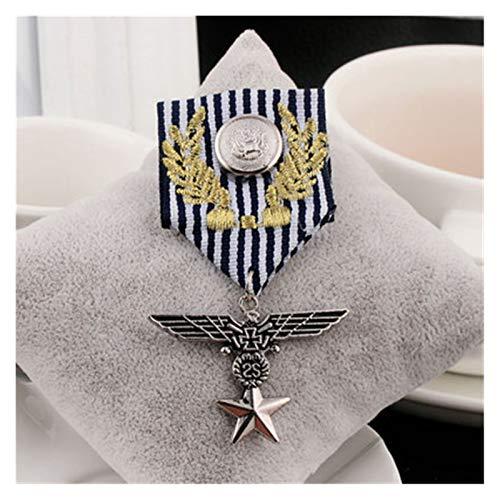 WanXingY Retro Águila Hombres Pin Pin Badge Retro Hombres Y Mujeres Accesorios Accesorios Joyería Conjunto De Hombres Tassel Metal Broche Pin (Color : 3)