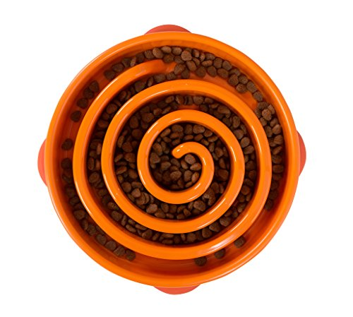 Dog Games Outward Hound Fun Feeder Coral Orange
