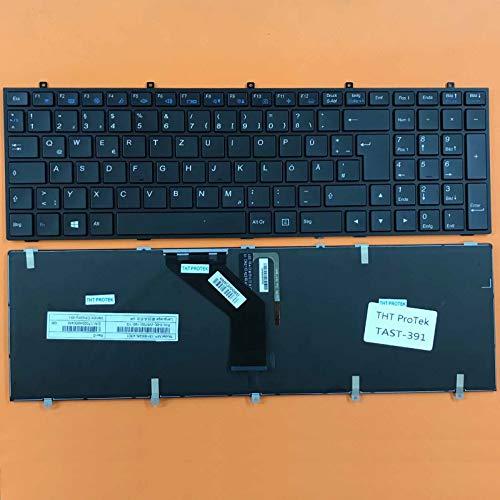 kompatibel für Gigabyte P27G v2 Tastatur - Farbe: schwarz - mit Beleuchtung - Deutsches Tastaturlayout