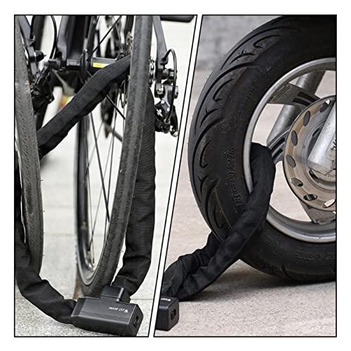 ZZRU Bicicleta anillo de bloqueo portátil bicicleta Cerraduras de bicicleta 1pc útil Cable Lock Road Ciclismo Mountain Candado (negro)