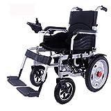 Cmn Silla de ruedas/Scooter para adultos mayores para exteriores Silla de ruedas eléctrica Plegable Ligero con baterías Admite deber Marco de aleación de aluminio de grado aeronáutico Más resistenc