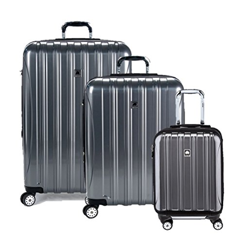 Buy DELSEY Paris Helium Aero Hardside Expandable Luggage with Spinner Wheels, Platinum, 3-Piece Set ...