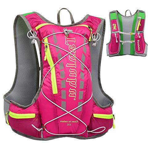 EASY BIG Hydration Pack Backpack Running Hydration Vest for Women and Men Outdoor Hiking, Cycling, Camping with 15L Capacity (Pink)