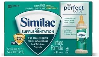Similac Supplementation Bottles 8-2 fluid ounce bottles