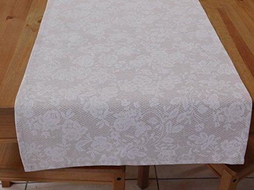 Tischläufer, Tischdecke, 140x40 cm, Romantisch, Fein, Natur, Rose, Enzigartig, Original, Geschenk