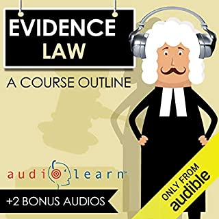 Evidence Law AudioLearn audiobook cover art