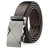 Xme Cinturón de cuero para hombre con cinturón de negocios con hebilla automática, cinturón...