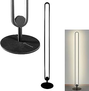 Shutterlight Lampadaire - Lumière blanche chaude - Intensité variable - Noir - 128 cm - Télécommande - Lampe de lecture de...