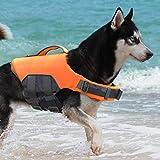 ThinkPet Chaleco Salvavidas para Perros Chaleco Flotante Reflectante Salvavidas Ajustable