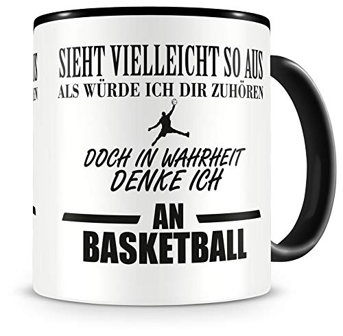 Samunshi® Ich denke an Basketball Tasse Kaffeetasse Teetasse Kaffeepott Kaffeebecher Becher