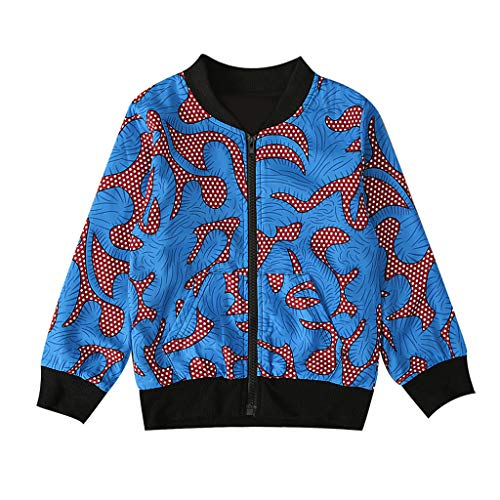 Kids Boys Autumn Long Sleeve Dashiki African Windproof Coat Warm Outwear Jacket Coat 1-5 Years