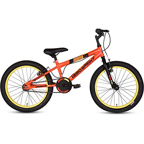 Hero Superboy 20T Single Speed Cycle, 14\ Frame (Red/Yellow)